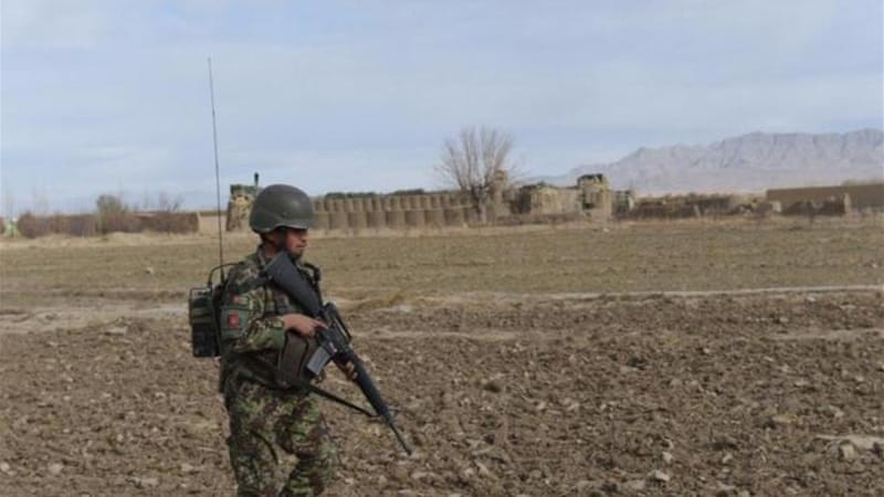 An Afghan National Army soldier keeps watch in Paktika province [AFP]