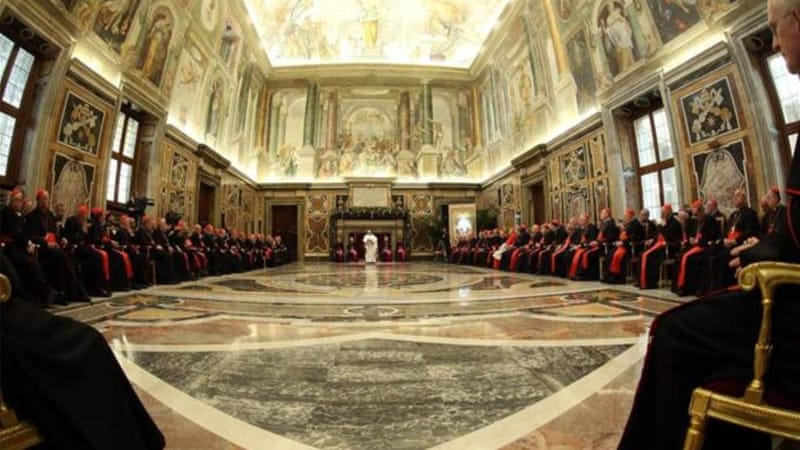 Francis listed 15 'Ailments of the Curia', including small talk, gossip and the lust for power [Getty Images]