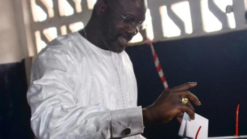 Weah won the senate seat over president Sirleaf's son with 78 percent of the vote [AFP]