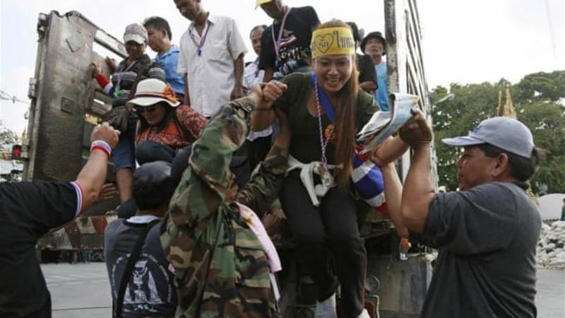 The protesters have said they will persist until they topple the elected government of Yingluck Shinawatra [AP]