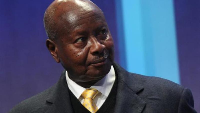 Museveni faces pressure from his ruling National Resistance Movement party to sign the bill on homosexuality [AFP]
