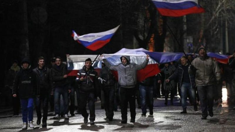 Crimea has witnessed pro-Russia protests since Viktor Yanukovych fled the country [Reuters]