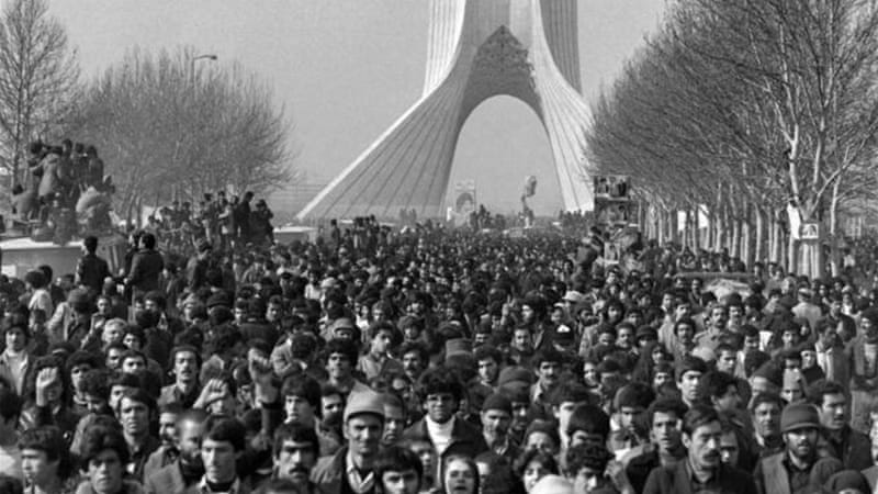 "In 1979, thousands of Iranians dreaming of a better future chanted ""Death to the Shah"" [AFP]"