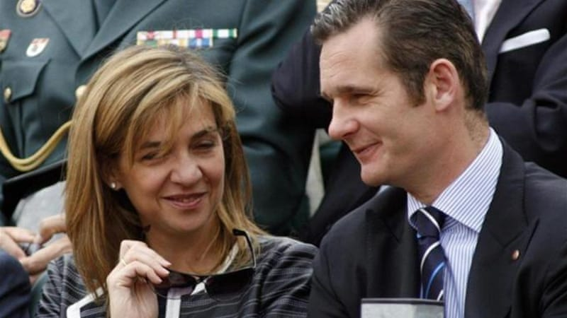 Cristina is accused of being complicit in the business dealings of her husband Inaki Urdangarin [File: Reuters]