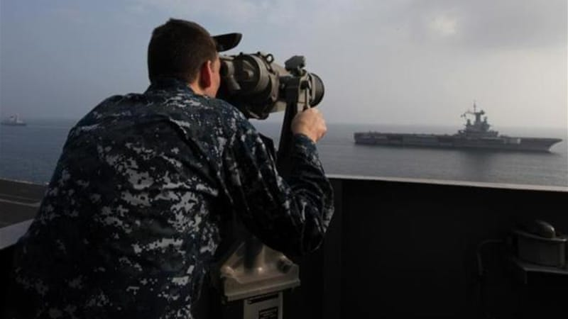 US and its allies regularly stage naval exercises in the gulf [AP]