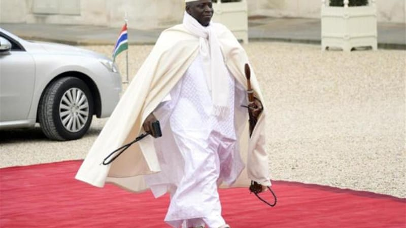President Jammeh did not say which language the tiny West African country will use in place of English [AFP]