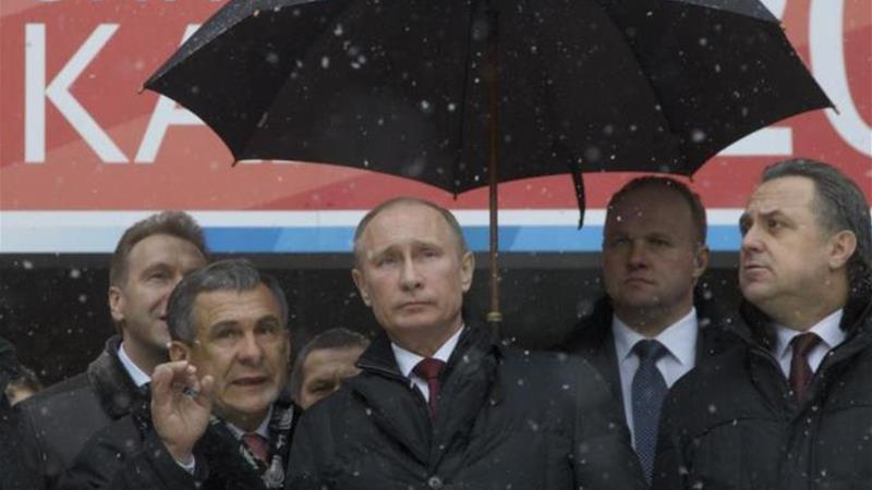 Tatarstan's regional president Rustam Minnikhanov has visited Crimea a couple of times in recent weeks [AP]