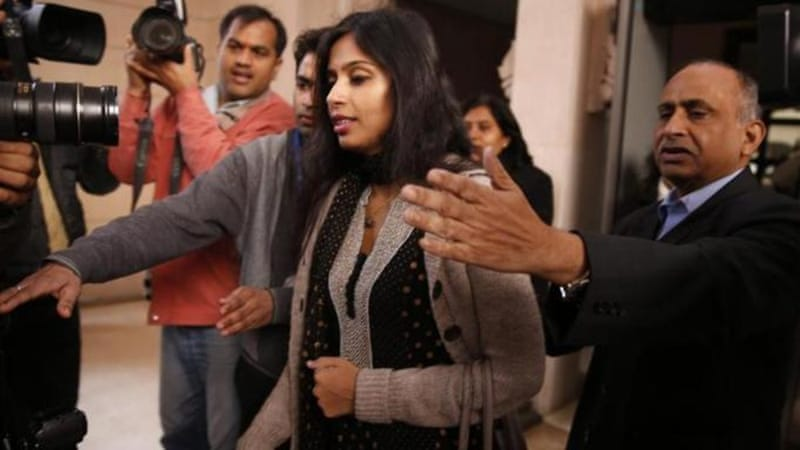 Khobragade is accused of exploiting her Indian-born housekeeper, making her work for just over $1 an hour [AP]