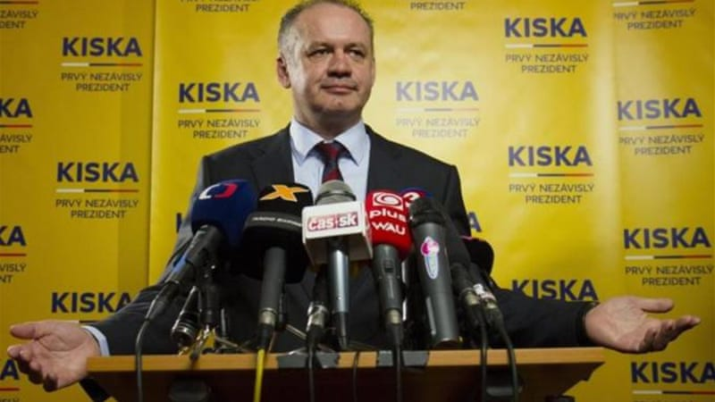 Newcomer Andrej Kiska , a businessman turned philanthropist, is regarded as politically untainted [EPA]