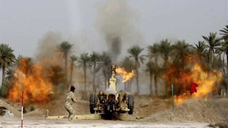 Iraqi forces have periodically shelled neighbourhoods of Fallujah in recent months [Reuters]