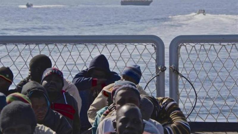 The arrival of 2,128 people in two days underlines the scale of illegal migration into southern Europe [EPA]