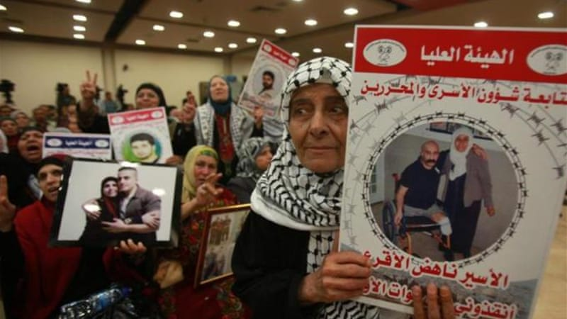 Israel had made a commitment to release a final group of 26 veteran Palestinian prisoners on March 29 [AFP]