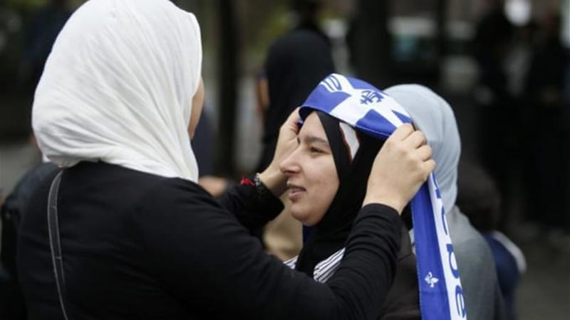 Some veiled women have faced violence after public debate over religious symbols intensified recently in Quebec, writes the author [Reuters]