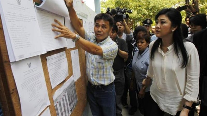 The government's opponents want to ensure a conservative majority to possibly impeach Yingluck [Reuters]