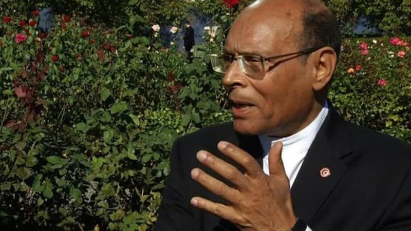 Moncef Marzouki lifted the emergency rule four months early but said security forces could still uphold the law  [AP]