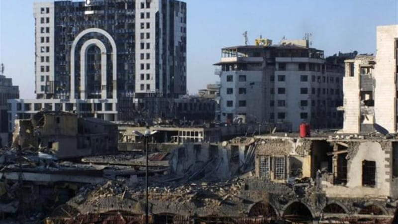 The bomb went off in the main street of Homs' Armenian district to the east of the city [Reuters]
