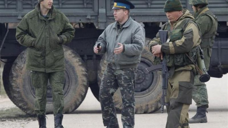 Russian troops are securing Ukrainian bases, writes Nekrassov [Reuters]