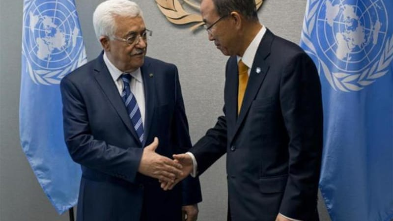 Mahmoud Abbas threatened to join the UN agencies after Israel refused to release Palestinian prisoners [AP]