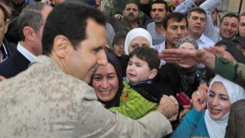 Recent visitors to the presidential compound in Damascus say that Assad seems very confident and convinced that military victory is near, writes Gerges [EPA]