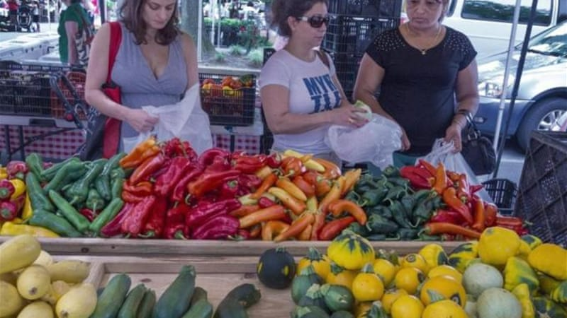 In the US, the number of local farmers' markets tripled between 1998 and 2013, writes Cox [AFP]