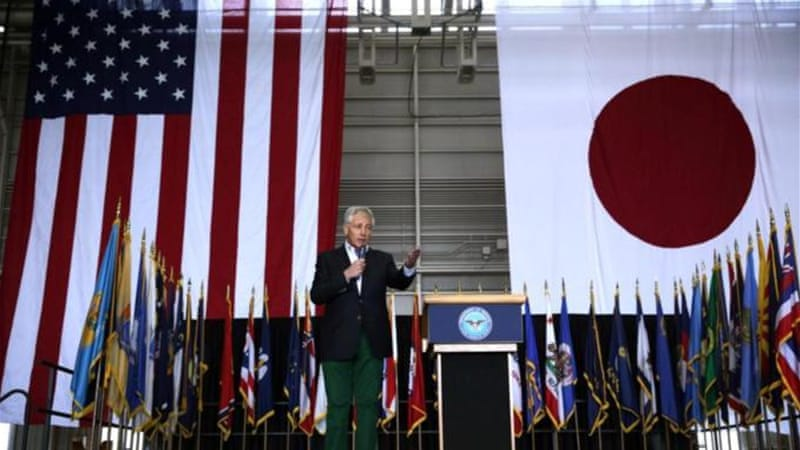 """Great powers have great responsibilities. And China is a great power,"" Hagel said on his visit to Japan [AP]"