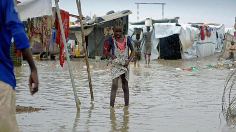 MSF accused the UN of sheltering civilians in the 'flood-prone' Tomping UN base in Juba [FILE: AFP]