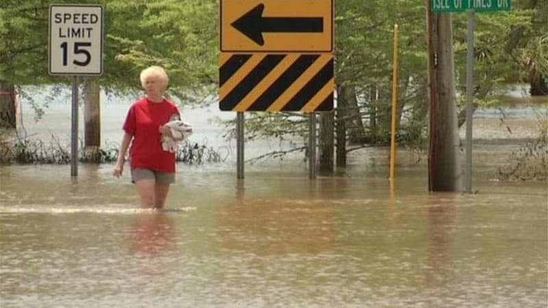 Along Alabama's Gulf Coast, major county roads were flooded and several rivers overflowed. [AP]