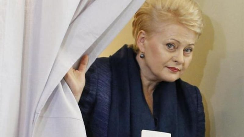 Grybauskaite will face Balcytis in the run-off, a social democrat who enjoys the support of the prime minister [AP]