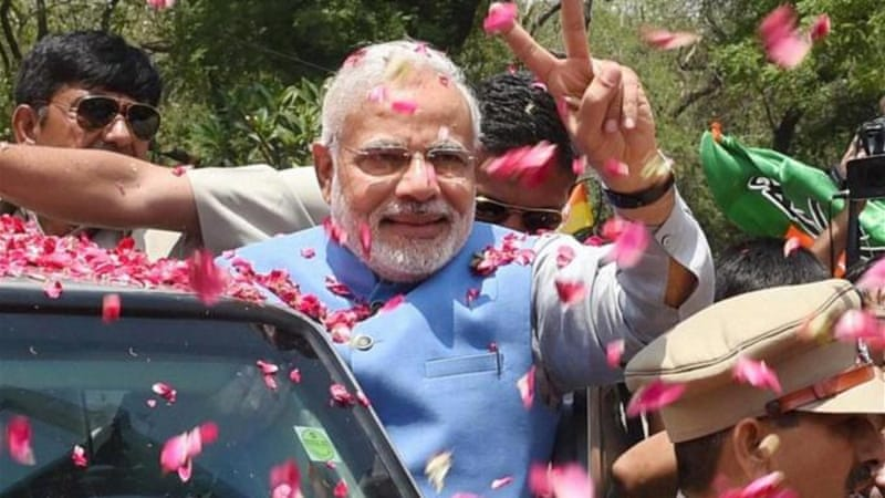 Modi is to take the oath as prime minister on May 26, ten days after a landslide win for the BJP [AP]