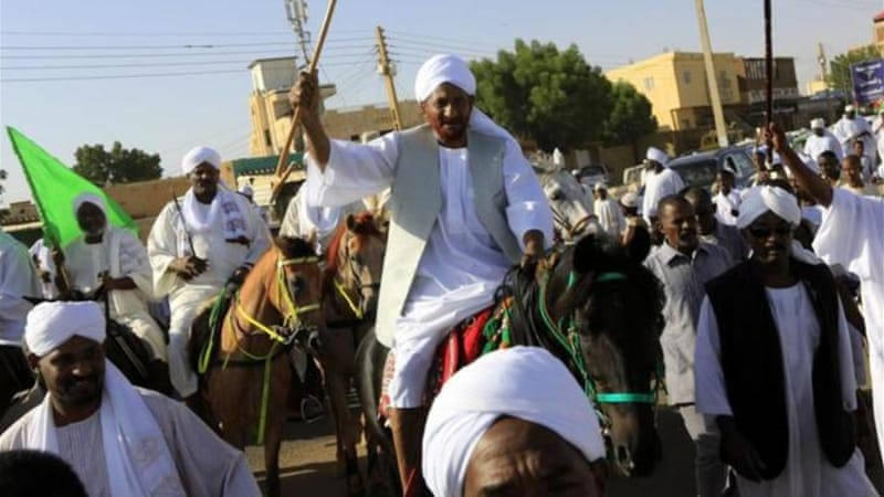 The Sudanese opposition leader is one of the highest-profile figures to be detained in Sudan in recent memory [Reuters]