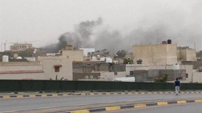 Hifter's troops targeted 'Islamist' lawmakers and officials at the parliament in Tripoli [AP]
