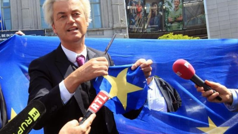 Ahead of EU elections, Dutch far-right politician Geert Wilders stirred controversy calling for 'fewer Moroccans' in the Netherlands [AP]
