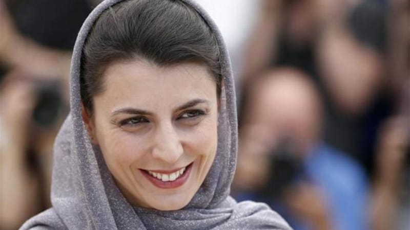 "Iranian actress Leila Hatami said festival president Giles Jacob, 83, was ""like a grandfather"" [EPA}"
