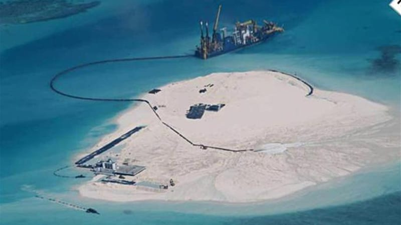 China's advancement in the South China Sea has fuelled tensions with Vietnam and the Philippines [EPA]