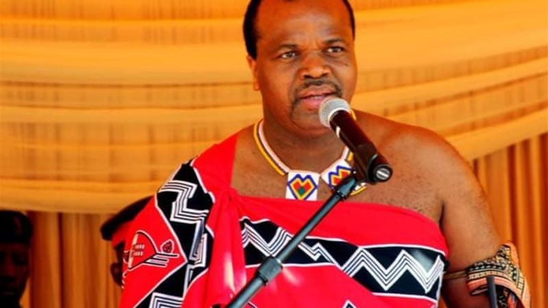 Swaziland, ruled by King Mswati III, has been hit hard by an economic slowdown in neighbouring South Africa [AFP]