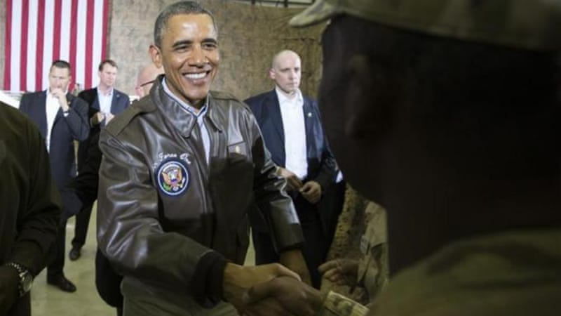 The leak happened as Obama headed to Afghanistan [AP]