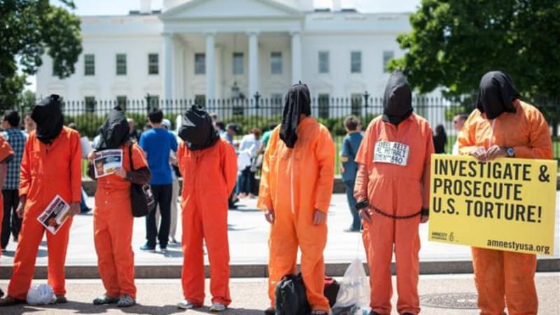 US President Barack Obama has promised to resume releasing Guantanamo prisoners [AFP/Getty Images]
