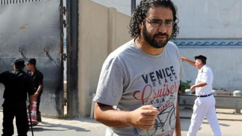Abdel Fattah has been in and out of prison in the three years since 2011 [EPA]