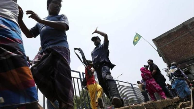 Police said they fired shotgun pellets to disperse rioters after clashes at the refugee camp in northern Dhaka [EPA]