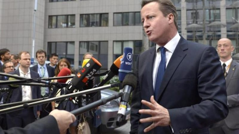 British PM David Cameron delivered a speech outlining values that need to be taught in British schools [AP]