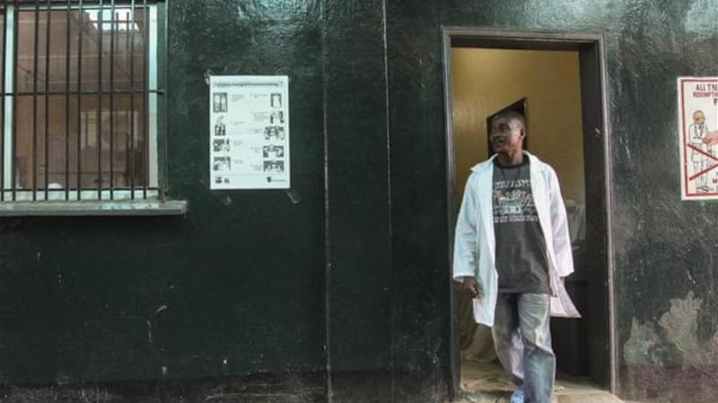 The Redemption Hospital where a nurse reportedly died of Ebola virus in Monrovia, Liberia [EPA]