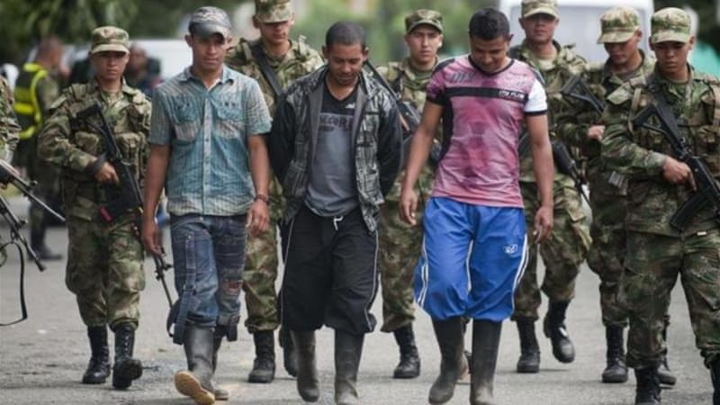 Demobilised FARC members might join criminal groups, writes Ceballos [AFP]