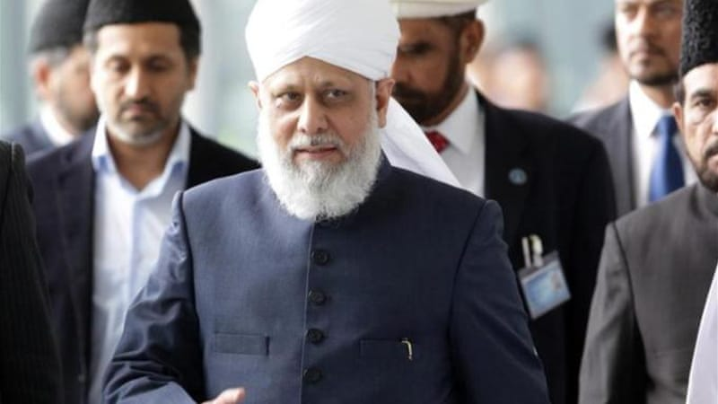 Hazrat Mirza Masroor Ahmad, current Caliph of the Ahmadiyya Muslim Community, will attend the event  [EPA]