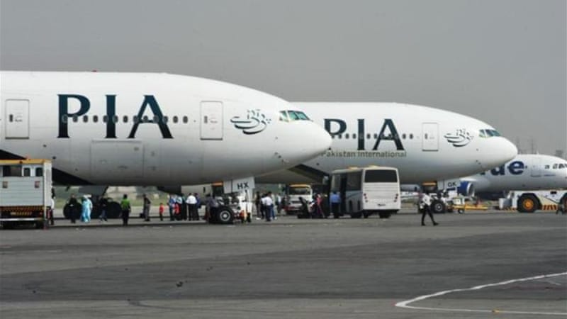 The PIA passenger jet which was targeted was an Airbus A310 with 178 passengers on board [EPA]