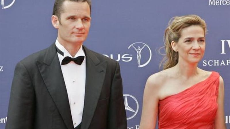 Princess Cristina and her husband Inaki Urdangarin face fraud charges [AP]