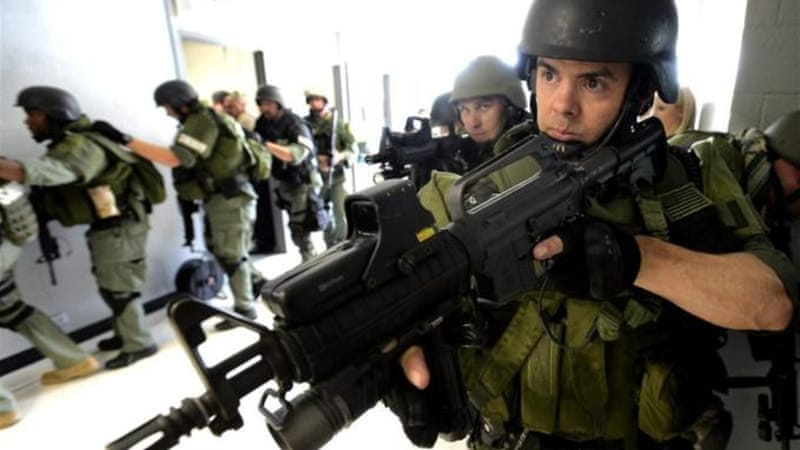 US police has become increasingly militarised [AP]