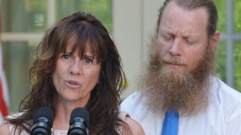 The FBI said threats have been made against Jani and Bob Bergdahl  [AFP]