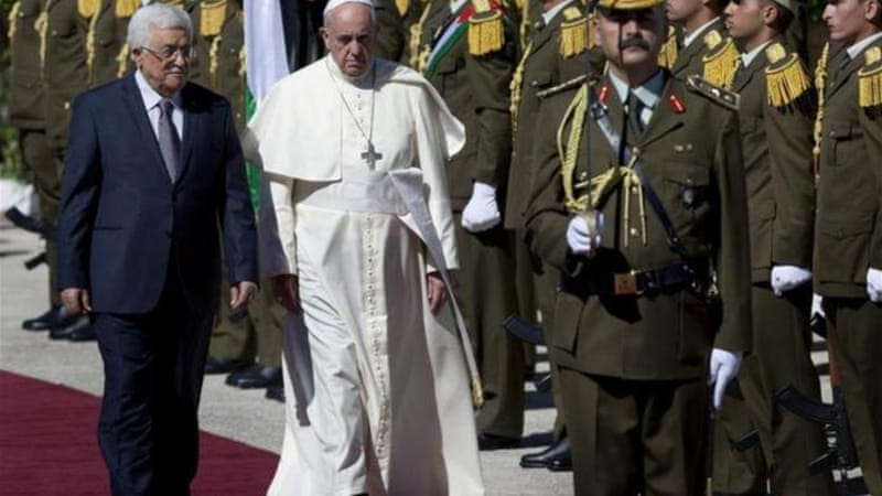 The pope's visit both to Bethlehem and Jerusalem was a masterly exercise in symmetry, writes Hagopian [AP]