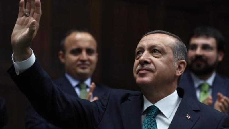 Erdogan is hoping to pick up Kurdish support as he bids to become Turkey's first directly elected president [AP]