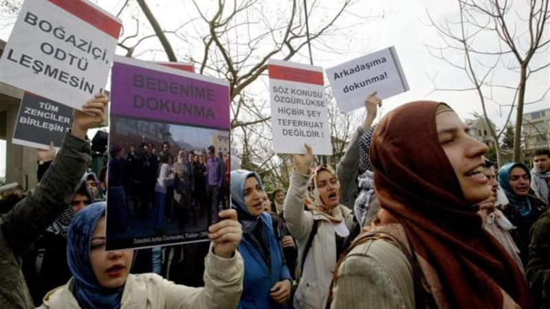 The veil was banned in Turkish universities until early 2000s [AFP/Getty Images]